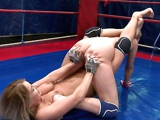 Nude Woman On Damsel Wresling Match Featuring Nataly Von And Nikky...