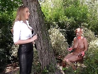 Mistress Danielle Maye Ravages Her Subjugated Before Bootie Fuc