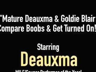 Matures Deauxma & Goldie Blair Compare Orbs & Get Revved On!